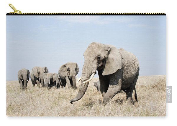 African Elephants Loxodonta Africana Carry-all Pouch