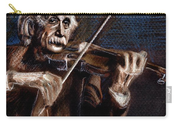 Albert Einstein And Violin Carry-all Pouch