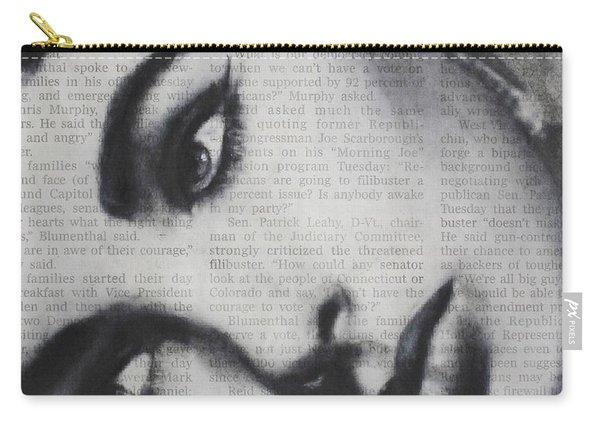Art In The News 15-elizabeth Carry-all Pouch