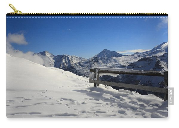 Carry-all Pouch featuring the photograph Austrian Mountains by Susan Leonard