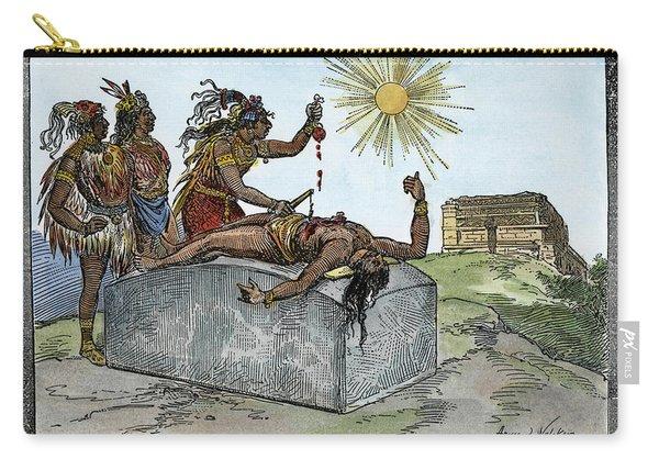 Aztec Ritual Sacrifice Carry-all Pouch