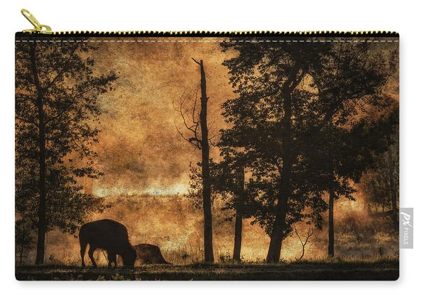 Bison  Bison Bison Athabascae  Grazing Carry-all Pouch