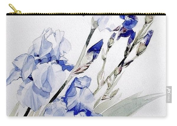 Blue Irises Carry-all Pouch