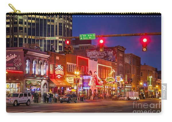 Carry-all Pouch featuring the photograph Broadway Street Nashville by Brian Jannsen