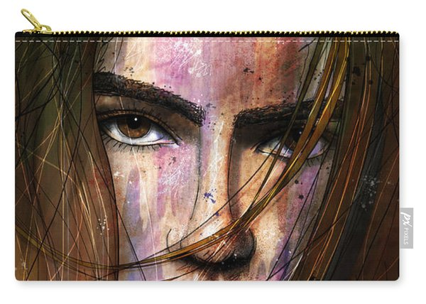 Brown Iris Entangled Carry-all Pouch