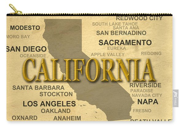 California State Pride Map Silhouette  Carry-all Pouch