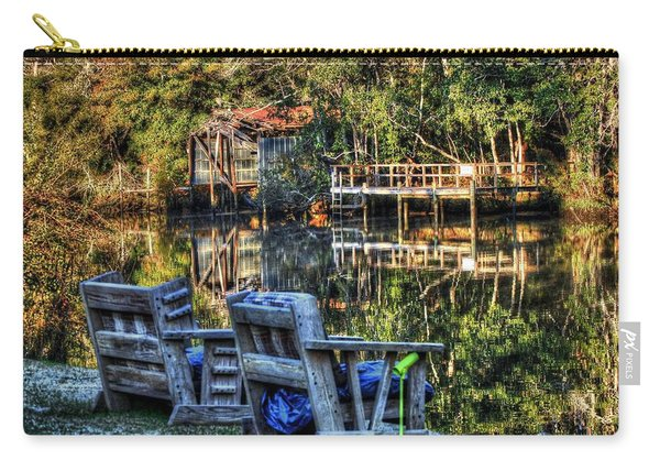 2 Chairs On The Magnolia River Carry-all Pouch