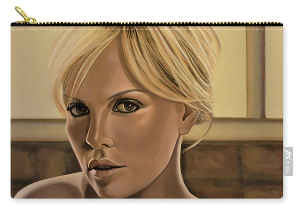 Charlize Theron Painting Carry-all Pouch