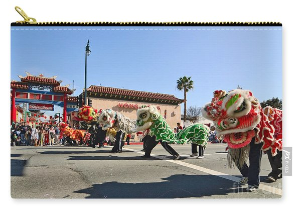 Chinese New Year Parade In Chinatown Of Los Angeles California. Carry-all Pouch