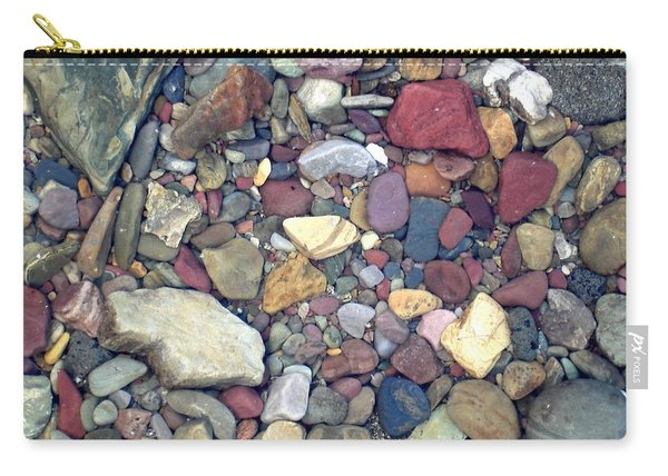 Colorful Lake Rocks Carry-all Pouch