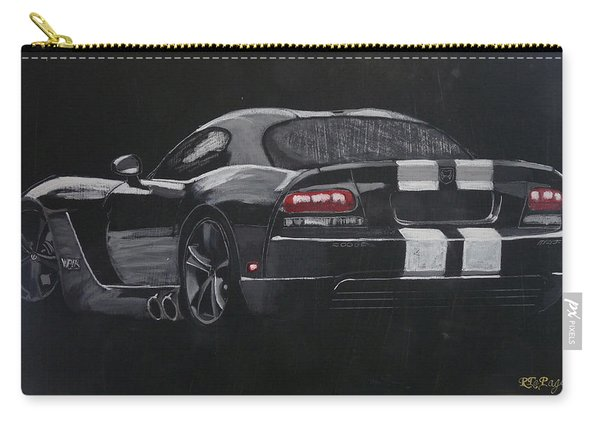Carry-all Pouch featuring the painting Dodge Viper 1 by Richard Le Page