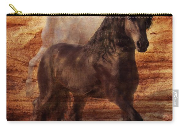 Ebony And Ivory Carry-all Pouch