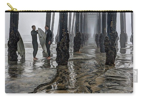 Fog At The Pier Carry-all Pouch