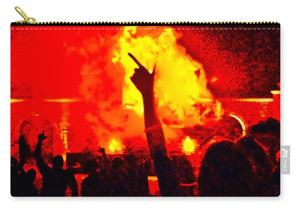 Carry-all Pouch featuring the photograph Guns-up Salute by Mae Wertz