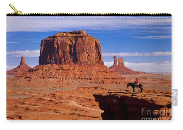 Carry-all Pouch featuring the photograph John Ford Point Monument Valley by Brian Jannsen