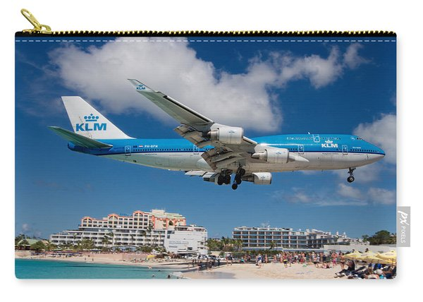 K L M Landing At St. Maarten Carry-all Pouch