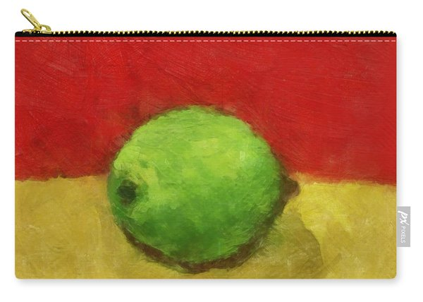 Lime With Red And Gold Carry-all Pouch