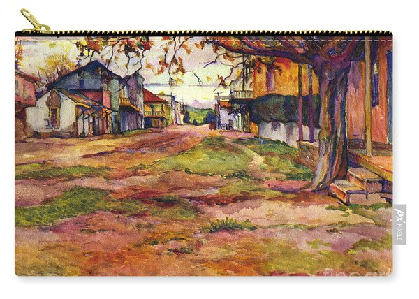 Main Street Of Early Spanish California Days San Juan Bautista Rowena M Abdy Early California Artist Carry-all Pouch