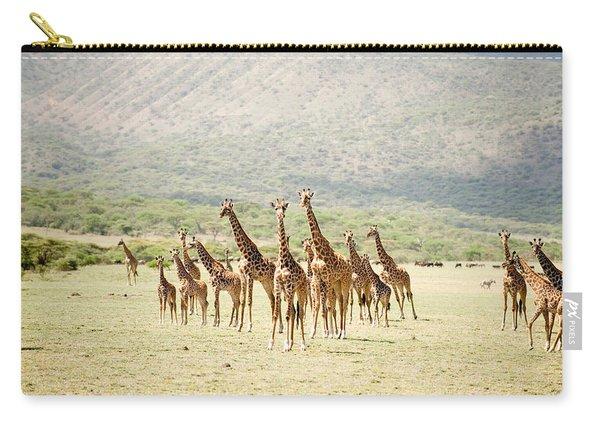 Masai Giraffes Giraffa Camelopardalis Carry-all Pouch
