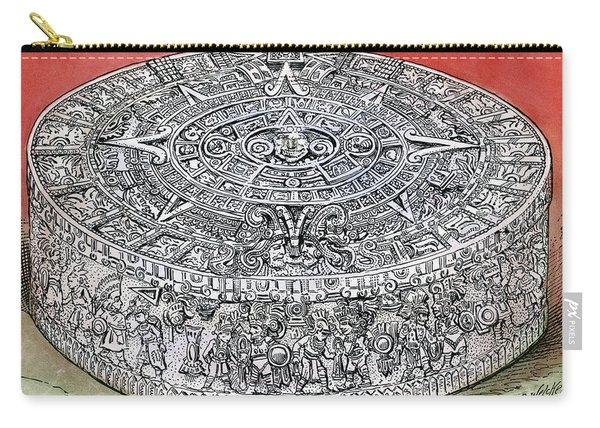 Mexico Stone Of The Sun Carry-all Pouch