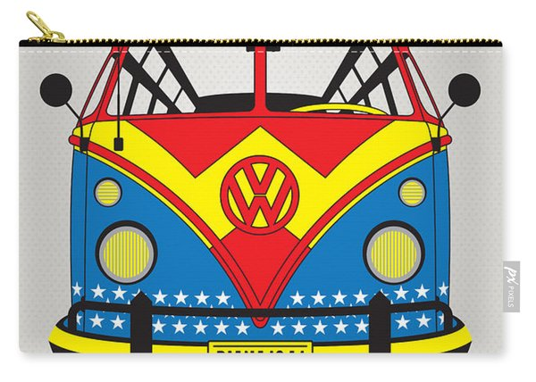My Superhero-vw-t1-wonder Woman Carry-all Pouch