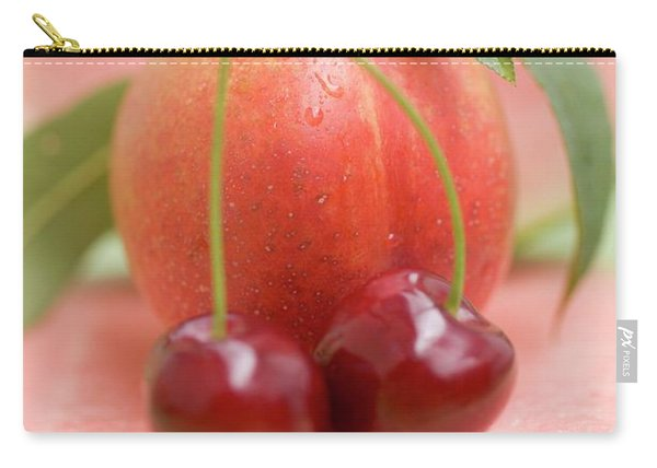 Nectarine With Leaves, Watermelon And Cherries Carry-all Pouch