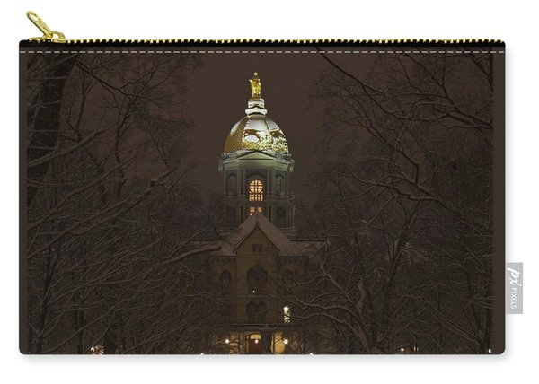 Notre Dame Golden Dome Snow Carry-all Pouch
