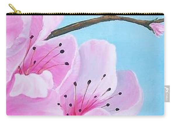 #2 Of Diptych Peach Tree In Bloom Carry-all Pouch