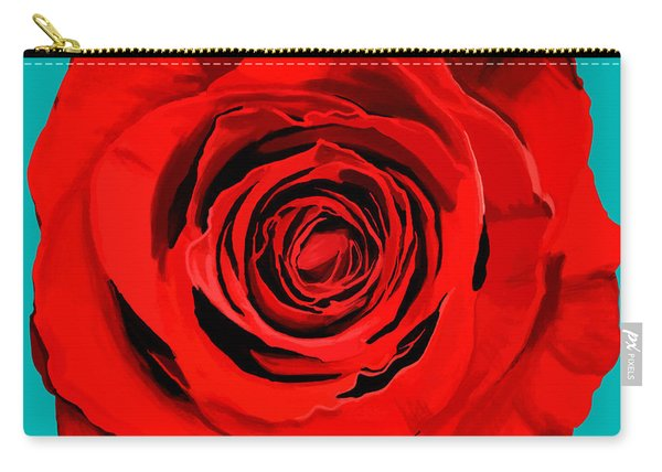 Painting Of Single Rose Carry-all Pouch