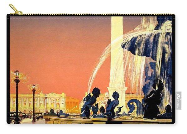 Paris Vintage Travel Poster Carry-all Pouch