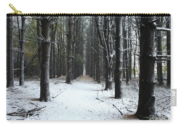 Pines In Snow Carry-all Pouch