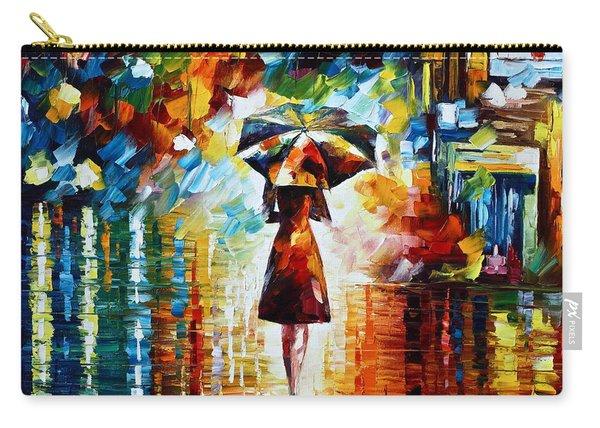 Rain Princess - Palette Knife Landscape Oil Painting On Canvas By Leonid Afremov Carry-all Pouch