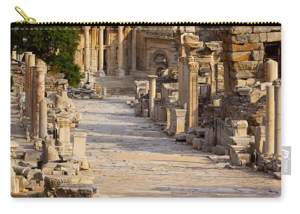 Carry-all Pouch featuring the photograph Ruins Of Ephesus by Brian Jannsen