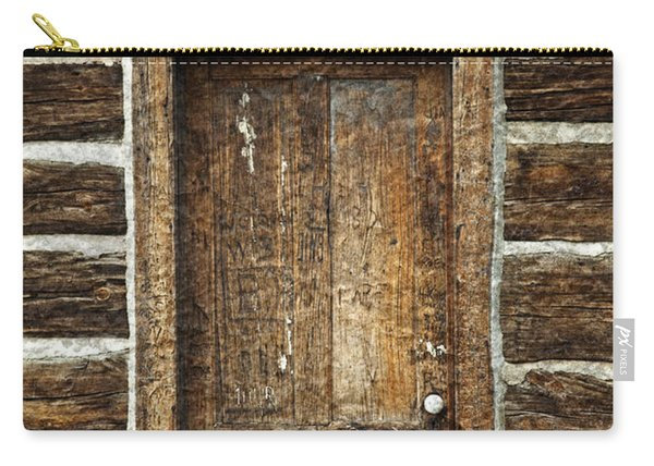 Rustic Cabin Door Carry-all Pouch