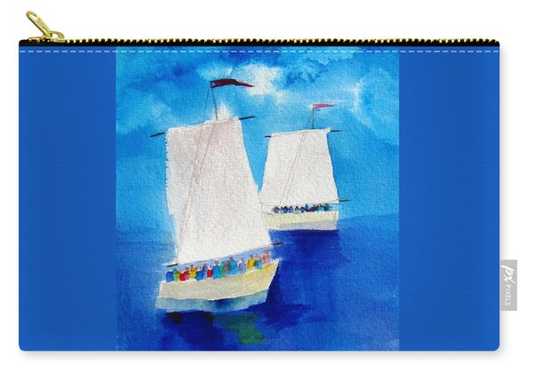 2 Sailboats Carry-all Pouch