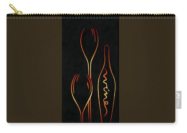 Carry-all Pouch featuring the painting Simply Wine by Sandi Whetzel