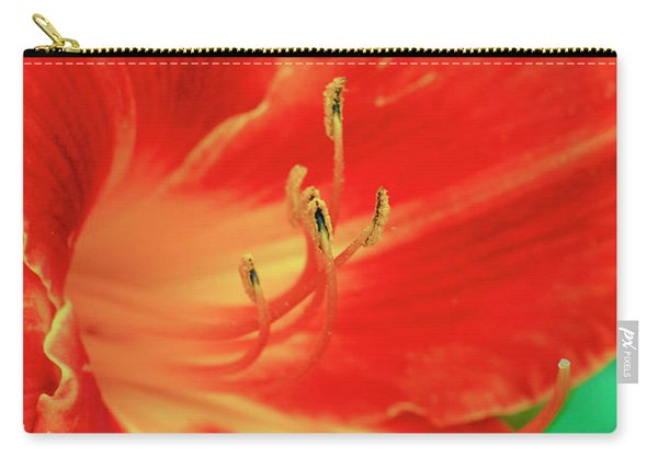 Red, Orange And Yellow Lily Carry-all Pouch