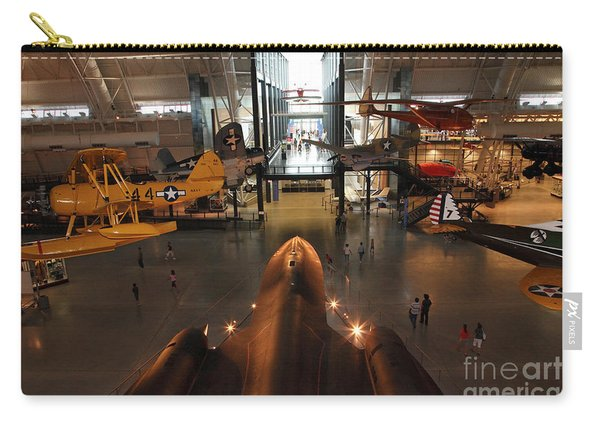 Sr71 Blackbird At The Udvar Hazy Air And Space Museum Carry-all Pouch