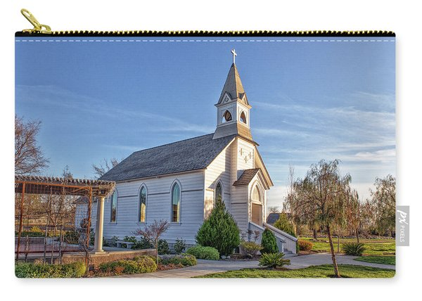 Carry-all Pouch featuring the photograph St. Mary's Chapel by Jim Thompson