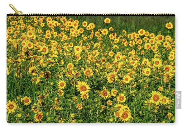 Sunflowers Helianthus Annuus Growing Carry-all Pouch