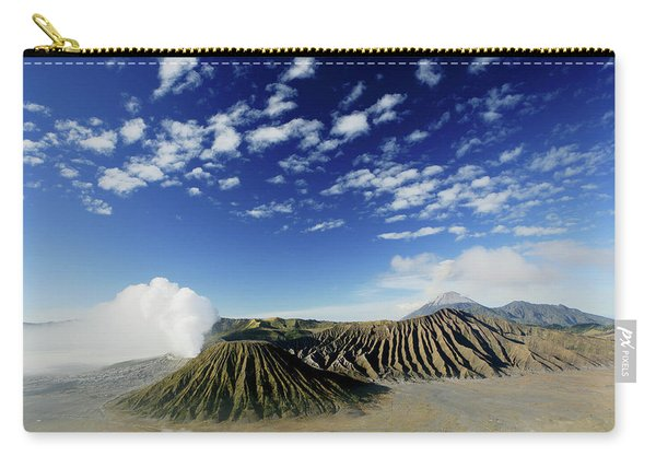 Sunrise Over The Smoking Gunung Bromo Carry-all Pouch