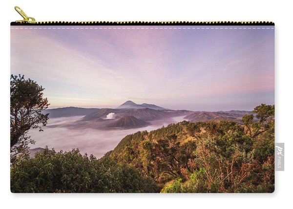 Tengger Caldera With Steaming Mount Carry-all Pouch
