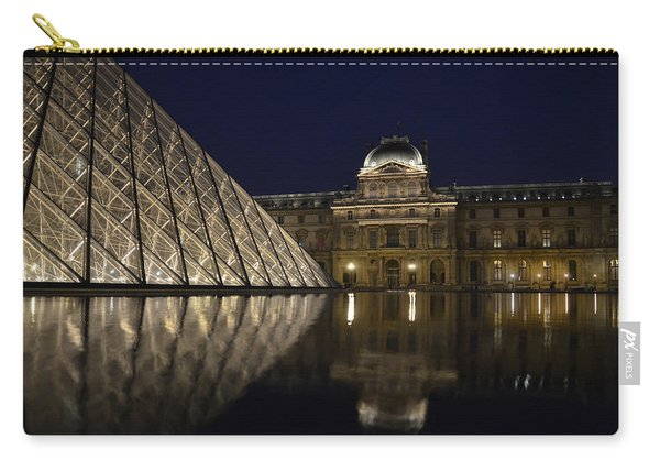 The Louvre Palace And The Pyramid At Night Carry-all Pouch