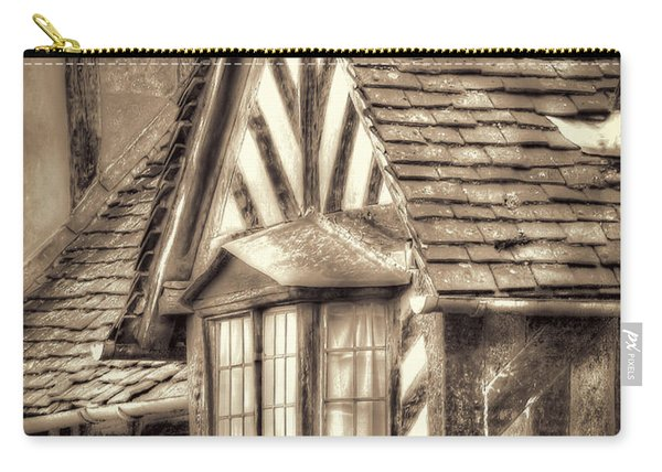Carry-all Pouch featuring the photograph Tudor Style Buildings by Susan Leonard