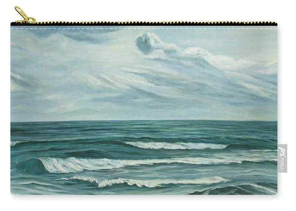 Carry-all Pouch featuring the painting Waving Sea by Angeles M Pomata