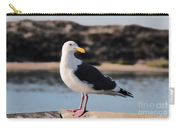 Western Gull At Moss Landing Inlet Carry-all Pouch