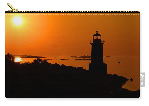 Winter Island Lighthouse Sunrise Carry-all Pouch