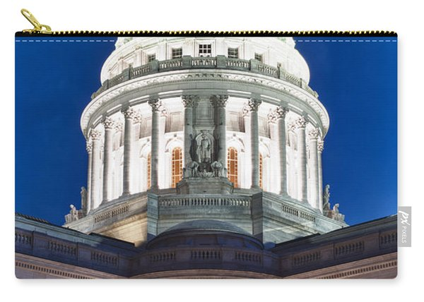Wisconsin State Capitol Building At Night Carry-all Pouch