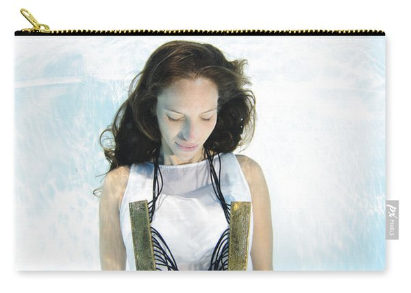 Woman Floats Underwater  Carry-all Pouch