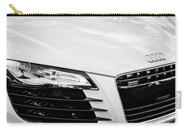 2008 Audi Hood Emblem -0440bw Carry-all Pouch
